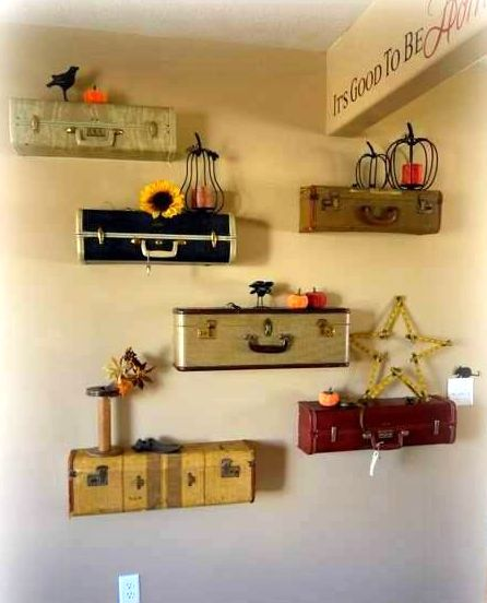 Старые чемоданы дизайн