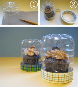 коробки для капкейков и тортов из пластиковых бутылок