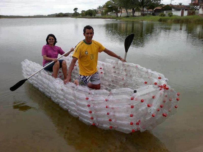 лодка из пластиковых бутылок своими руками