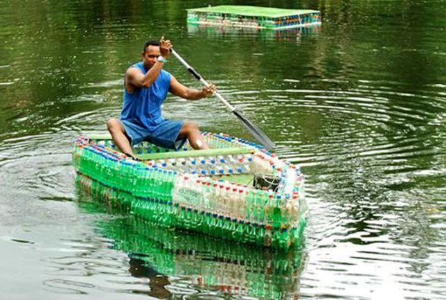 как сделать лодку своими руками из пластиковых бутылок