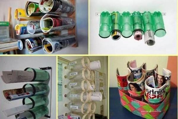 органайзеры из пластиковых бутылок своими руками