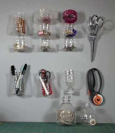 органайзер из пластиковых бутылок своими руками