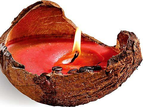 свеча в кокосе