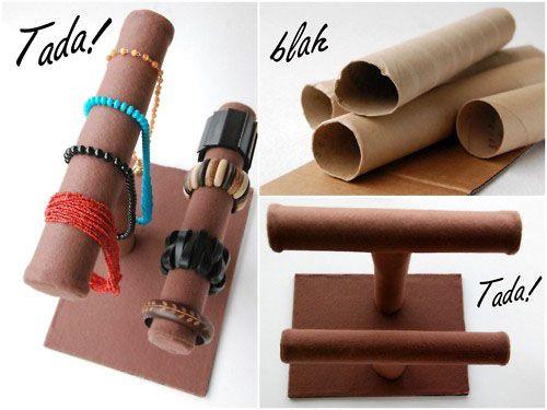 хранение браслетов на картонных рулонах