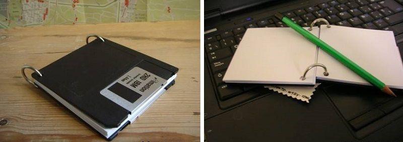 поделки из дискет - блокнот