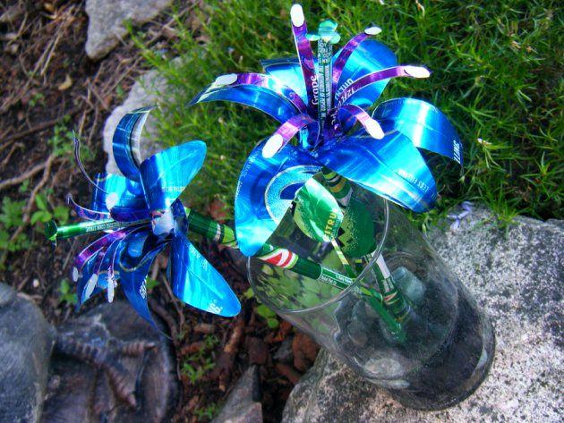цветы из алюминиевых банок