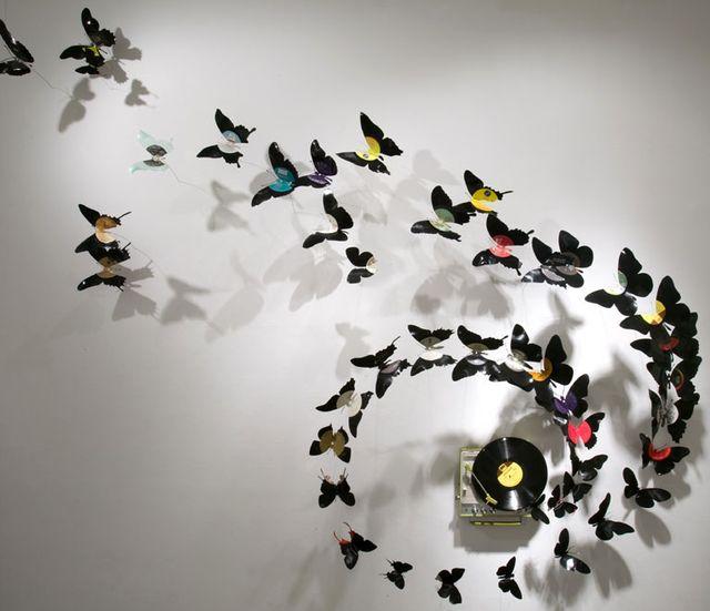 поделки из пивных банок - бабочки