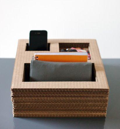 органайзер  из картона - подставка своими руками