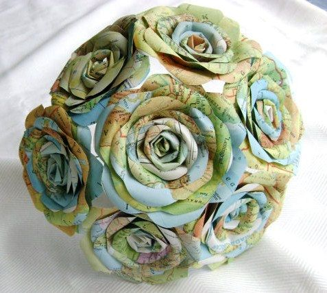 бумажные цветы из карт