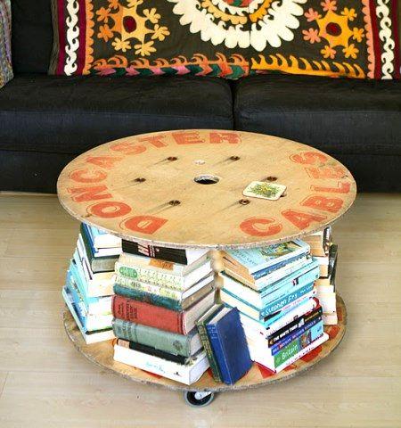 круглый стол своими руками из катушки