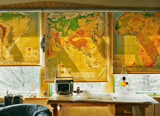 ролеты окна из географических карт