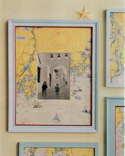 паспарту для фотографий из географических карт
