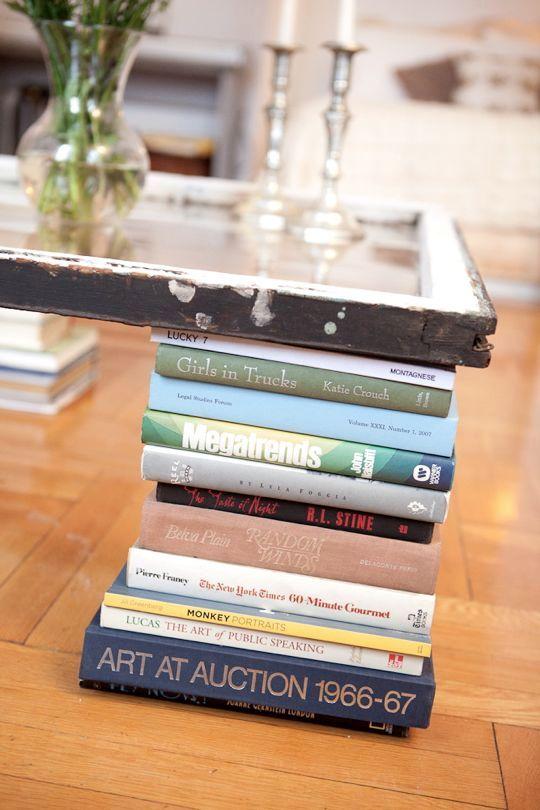 журнальный столик из окна и книг своими руками
