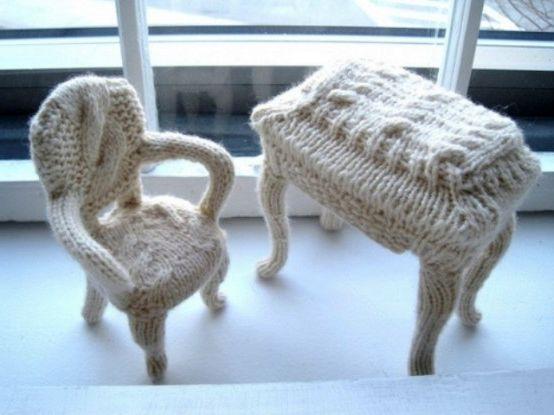 вязаные чехлы на мебель 11