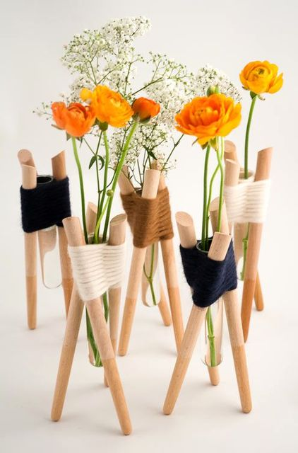 миниатюрные вазы из пробирок