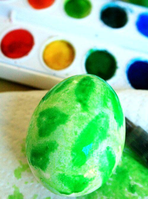мастер-класс роспись пасхальных яиц акварелью