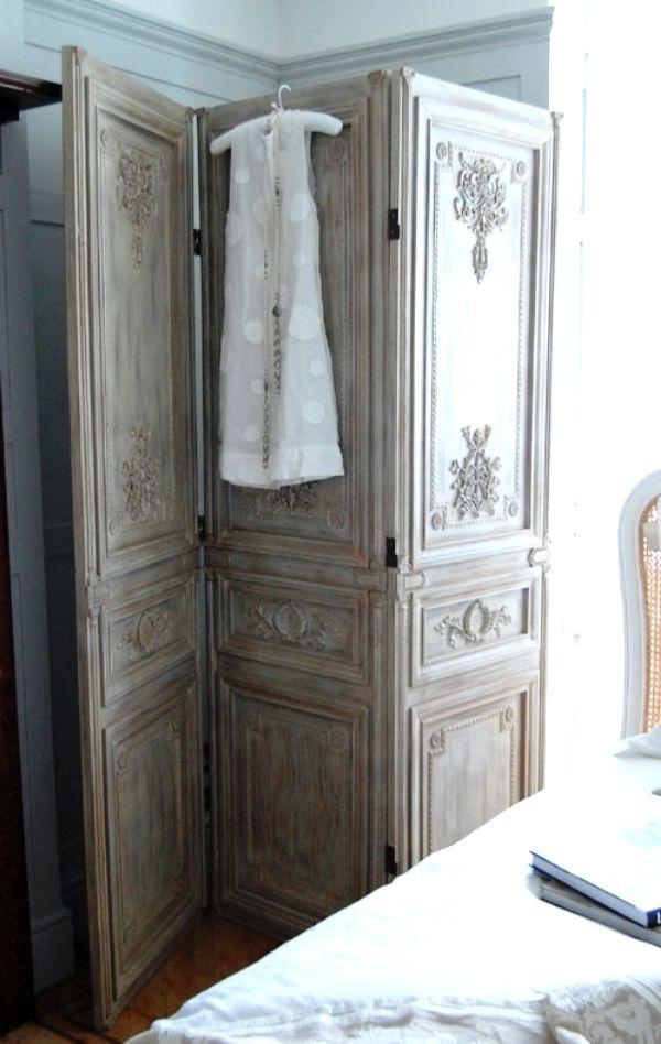 что сделать из старых дверей - ширма