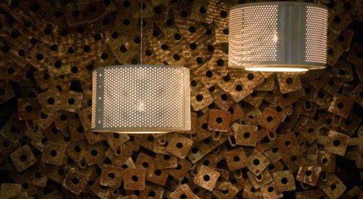 Лампы из барабанов стиральных машин