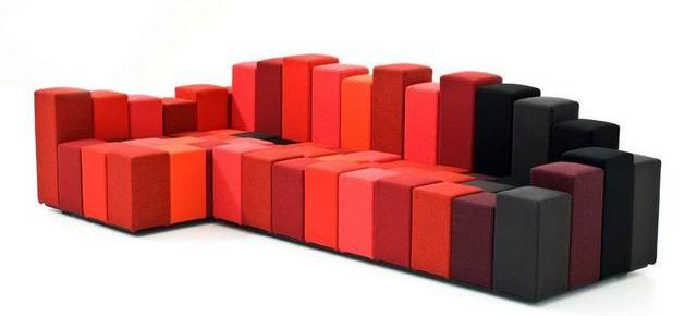 Модульный диван-трансформер Do-Lo-Rez от Ron Arad