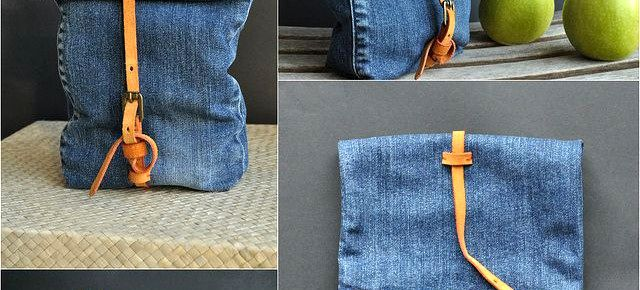 Сумка-пакет своими руками из старых джинсов