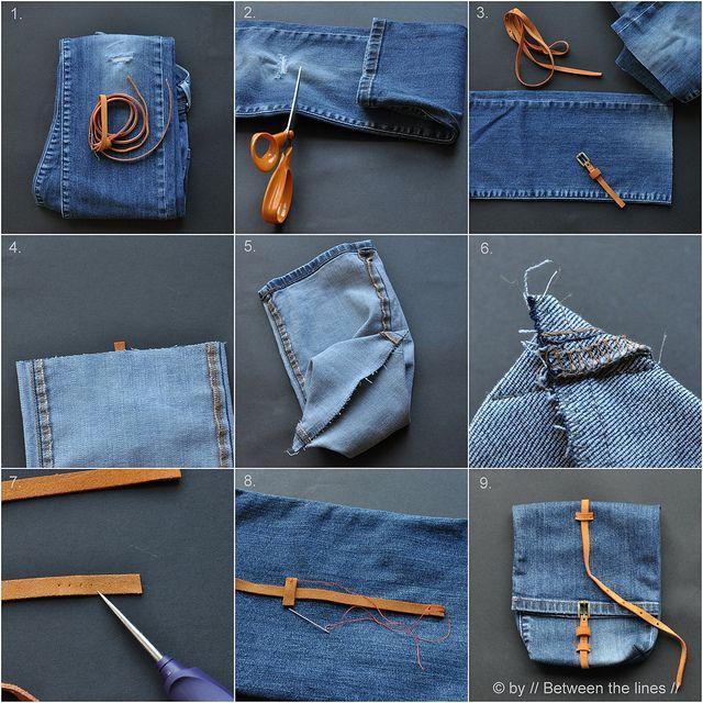 Как сделать из джинсы сумку