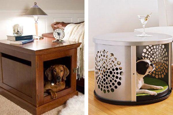 домашняя будка для собаки - столик для хозяев