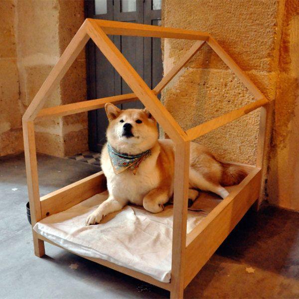 открытая будка - домик для собачки