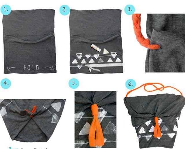 летняя сумка своими руками из наволочки без шитья