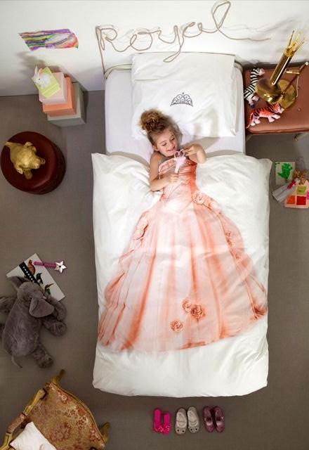 детское постельное белье snurk с платьем принцессы