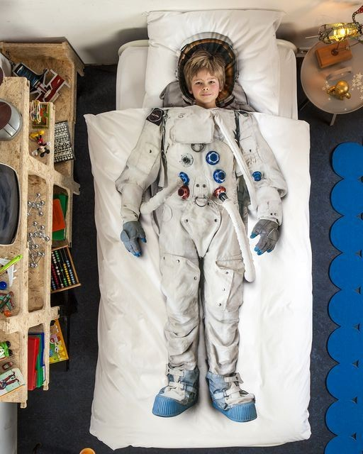 детское постельное белье snurk со скафандром астронавта