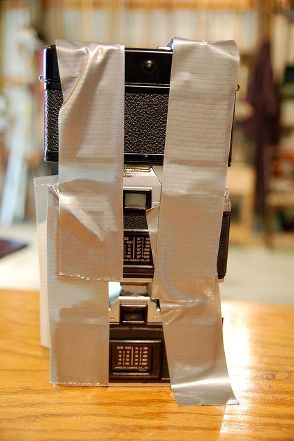 три фотокамеры для ножки светильника