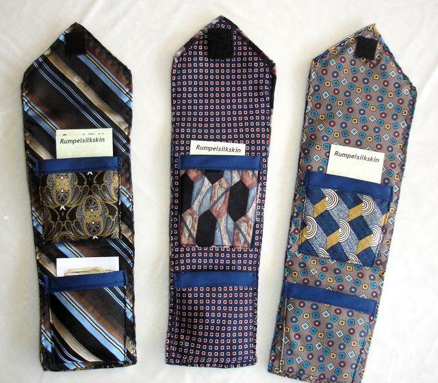 кошелек из галстуков