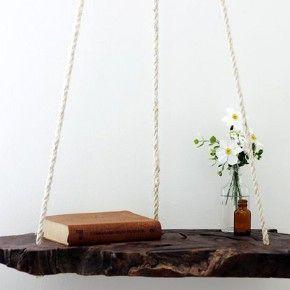 Подвесной столик на веревках своими руками