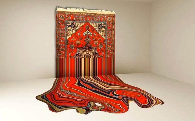 необычный дизайн ковров Faig Ahmed