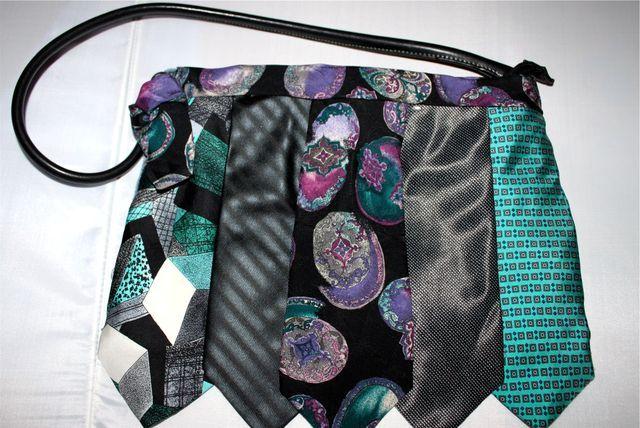 женские сумки из галстуков