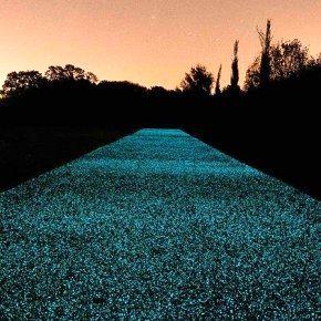 Дорожное покрытие Starpath, светящееся ночью