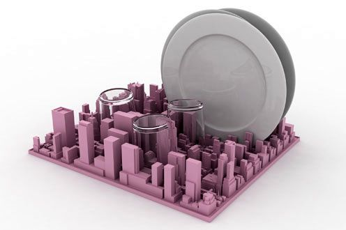 резиновая сушилка для посуды