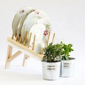 Сушилка для посуды с поливом комнатных растений