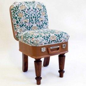 Компактные кресла из старых чемоданов