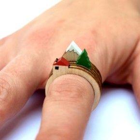 Миниатюрный пейзаж на пальце: кольца от Clive Roddy