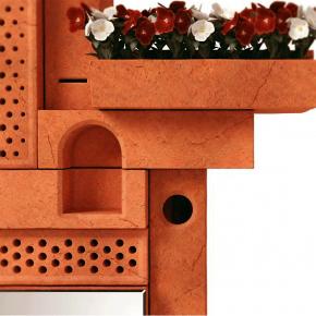 Кирпичные жилища для птиц, насекомых и растений на городских стенах