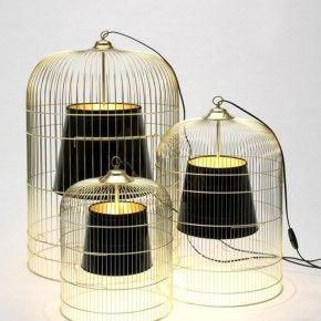 Светильники из птичьих клеток своими руками