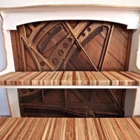 Винтажный компьютерный стол из старого пианино