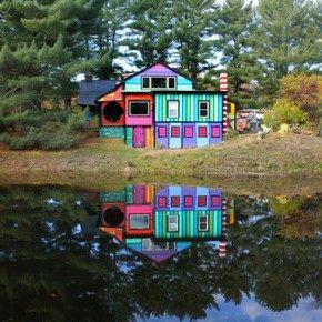 Психоделический дом художницы Kat O'Sullivan