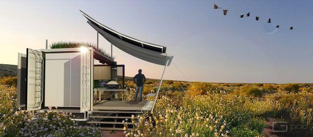 дом из морского контейнера dwell