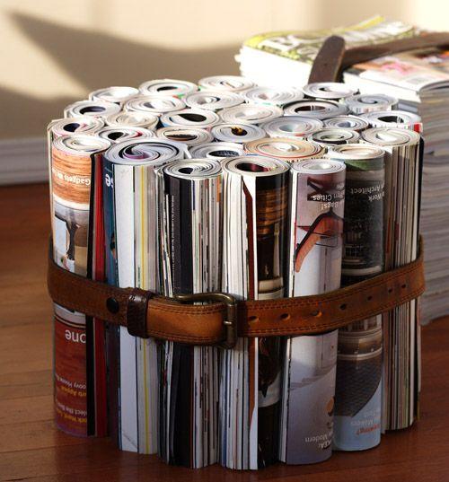 Мебель из журналов своими руками