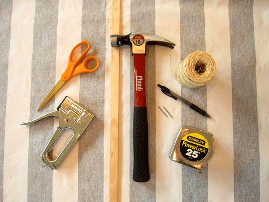 материалы для шторы на завязках своими руками