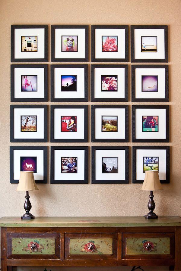 декор стены фотографиями инстаграмм