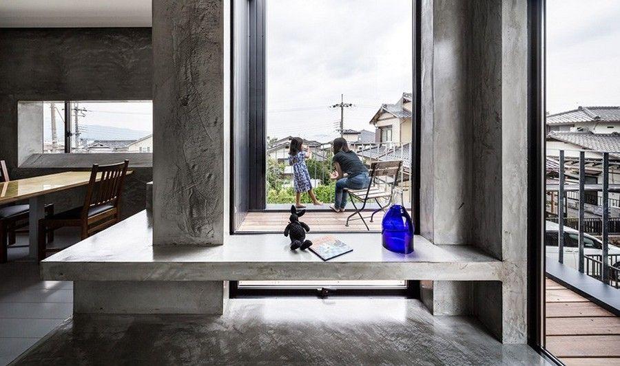 интерьер дома с необычной геометрией Scape house