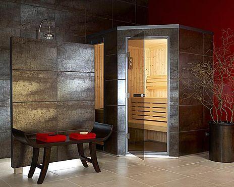 компактная сауна в ванной комнате